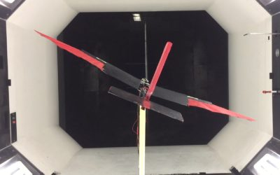 Feathered drone in the wind tunnel